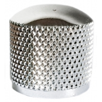Metal Dome Knob - Knurled, Chrome