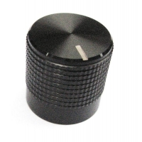 15mm Knurled Black Aluminium Push..