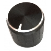 17mm Knurled Aluminium Knobs - Bl..