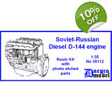 Soviet-Russian Diesel D-144 engine 1/35