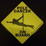 Poler on board car sticker