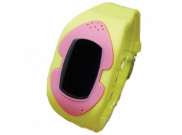 Kids Phone Smart Watch - Yellow and Pink