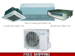 AirCon 18000 BTU 16 SEER Sky Split Series Mini Split Heat Pump AC