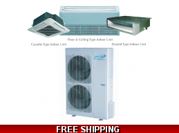 AirCon 48000 BTU 16 SEER Sky Split Series Mini Split Heat Pump AC