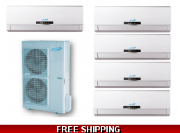 AirCon 16 Seer 5x9000btu Quint Zone Mini Split Heat Pump AC