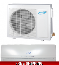 36000 Btu 16 Seer Ductless Mini Split Heat Pump by AirCon A16CI4H4R36