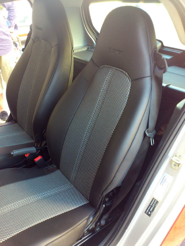 Leatherette Two Tone Fishnet Car Seat Covers Fits On Smart Seats