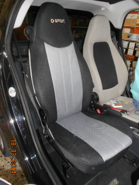 CUSTOM CAR SEAT COVERS for SMART FORTWO and ROADSTER