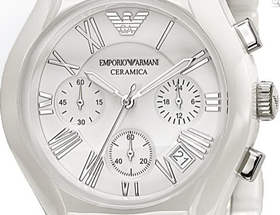 ac5459f3 Armani AR1403 Gents White Ceramic Round White Dial Watch