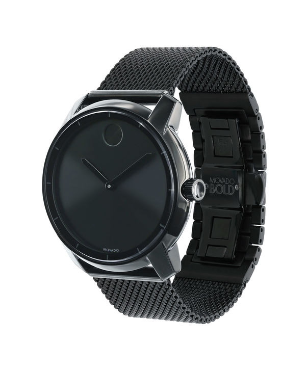 a3a464050 Movado 3600261 Bold Black Ion Stainless Steel Bracelet Men's Watch