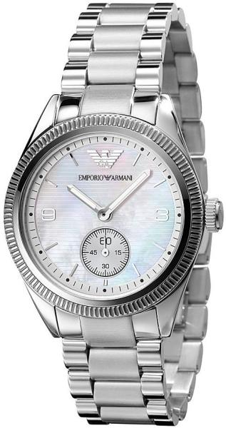 4d3394baec4 Find helpful customer reviews and review ratings for Emporio Armani Women s  AR0468 Classic Black Leather Black Mother-Of-Pearl Dial Watch at Amazon.com.