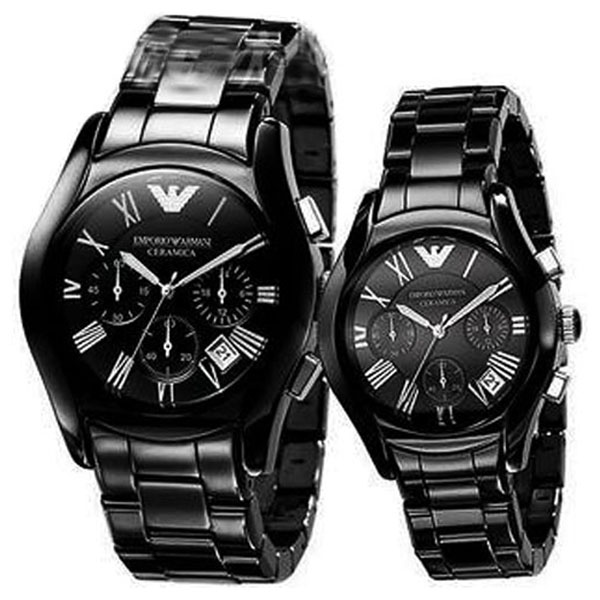 Emporio Armani His And Hers Classic Watches Ar1400 Amp Ar1401