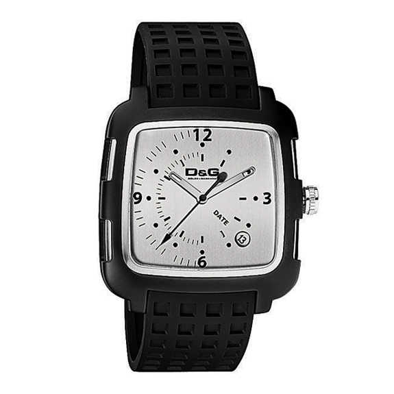 d g dw0361 square silver mens