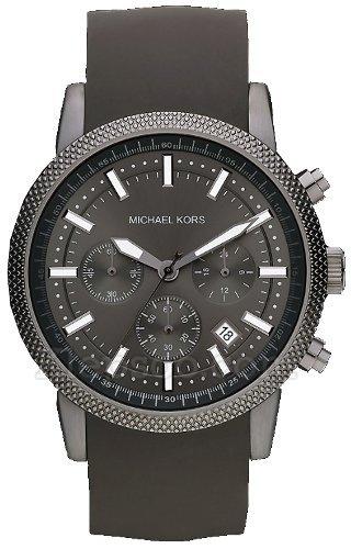 c5e38e460eb9 Michael Kors Watches MK8241 Mens Black Rubber Strap