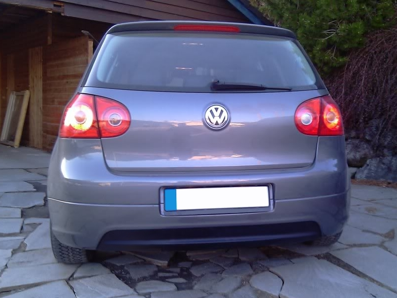 VW Golf MK5 V Yrs 04 - 08 R32 EDITION 30 NO EXHAUSTs Rear Bumper Lower Skirt