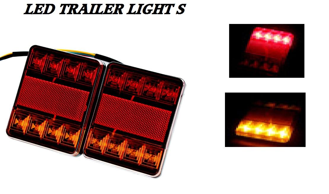 LED TRUCK TRACTOR & TRAILER Lights Pair 12 Volt