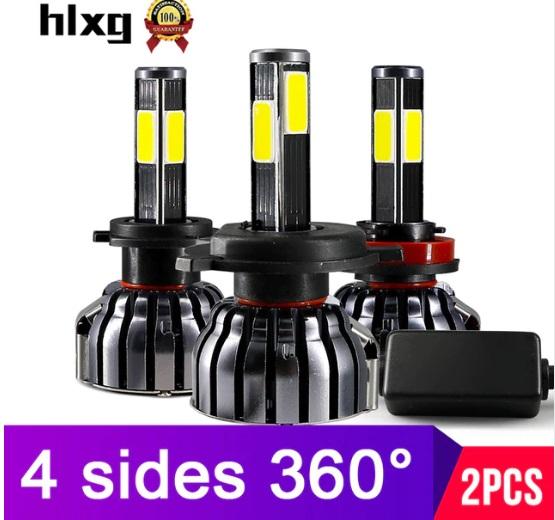 NEW HIGH CANBUS ERROR FREE POWER COB FAN COOLED LED HEADLIGHT BULBS H1 H3  H4 H7 H11 HB4