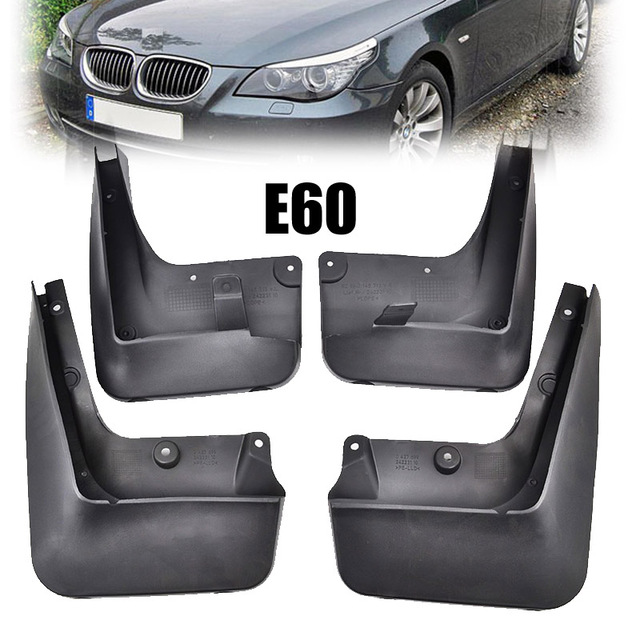 BMW E60 5 Series Yrs 03-10 4pc Set Fitted Moulded Mudflaps