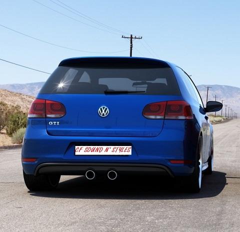 Vw Golf 6 Gti R20 Look Bumper Insert For Rear Bumper For
