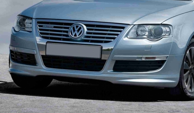 vw passat b6 3c r line front bumper lip valance yrs 05. Black Bedroom Furniture Sets. Home Design Ideas