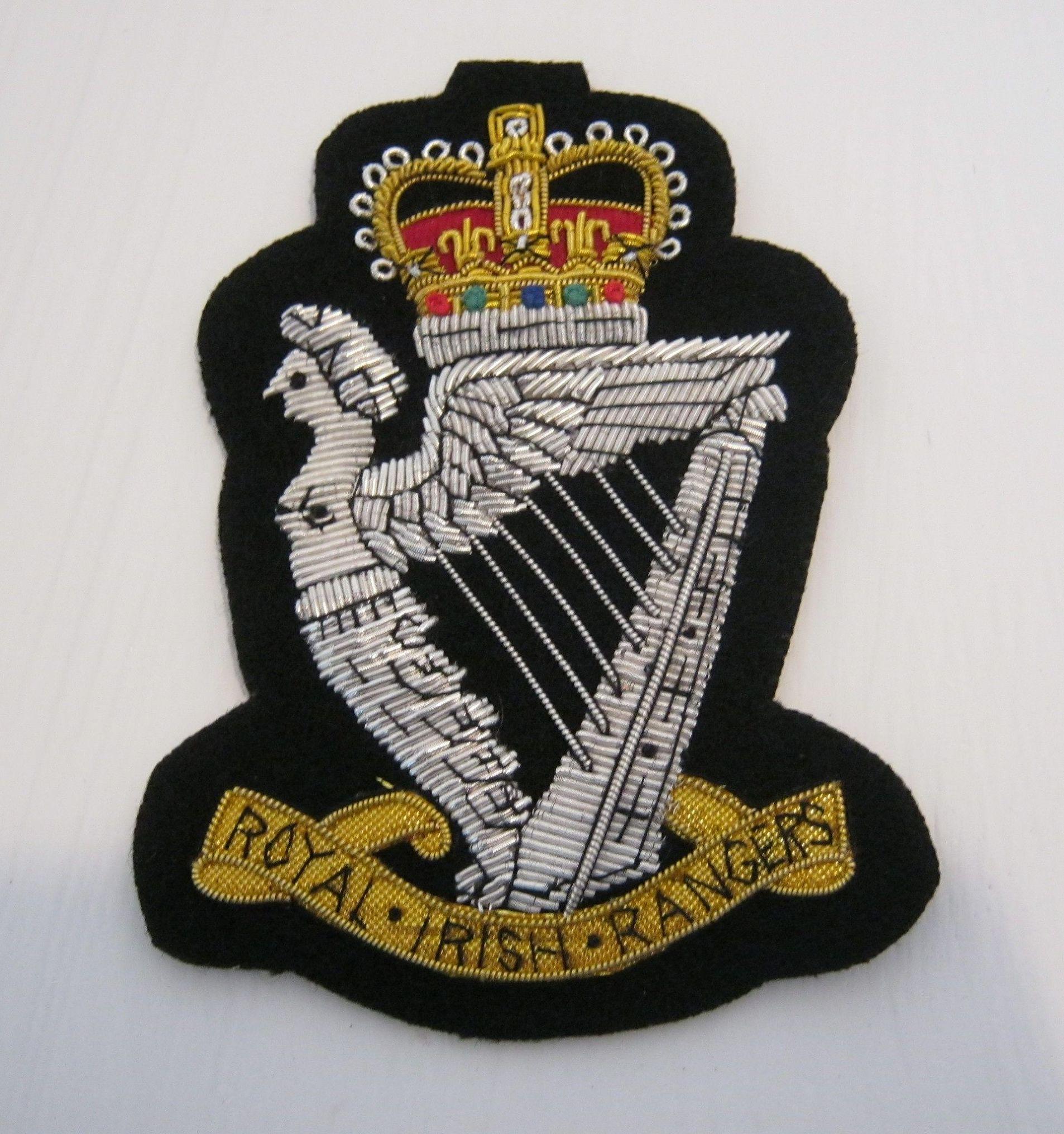 Royal Irish Rangers Blazer Badge