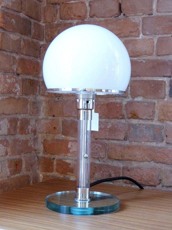 Wagenfeld glass table lamp aloadofball Gallery