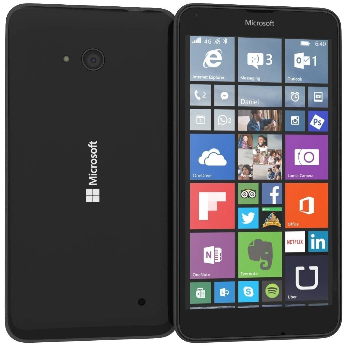 microsoft lumia 640 dual sim 8gb windows smartphone 4g. Black Bedroom Furniture Sets. Home Design Ideas