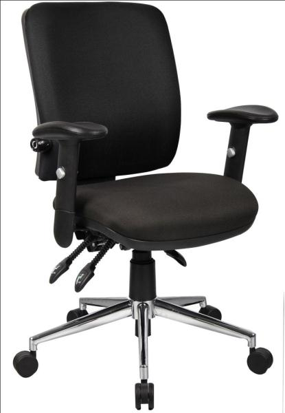 Medium Back Posture Task Office Chair With Adjustable Arms