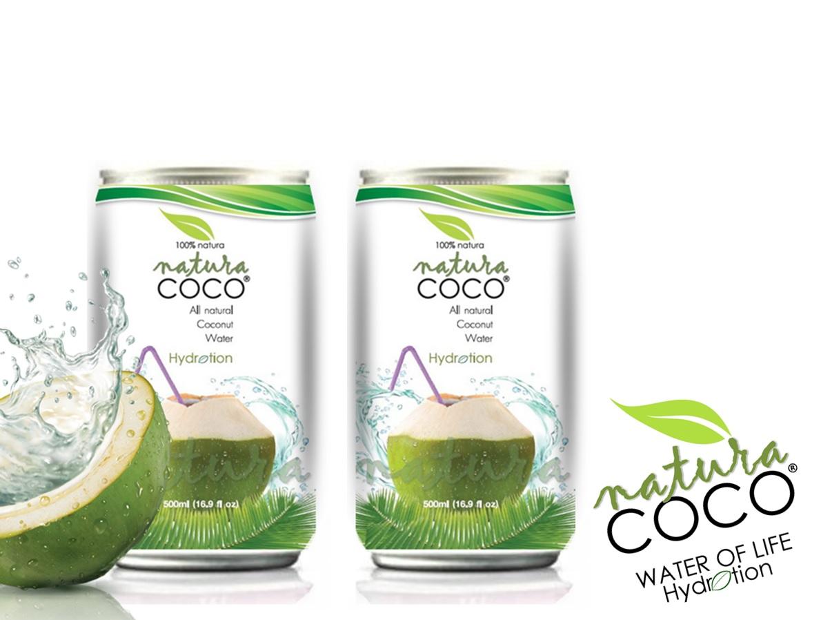 Natura Coco 174 Pure Premium Coconut Water Natural Aluminum