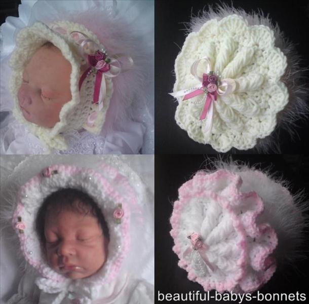 Ruffled Baby Bonnet Crochet Pattern #16