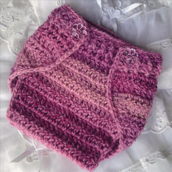 DK Nappy Pants or Diaper Cover Wrap Crochet Pattern #31