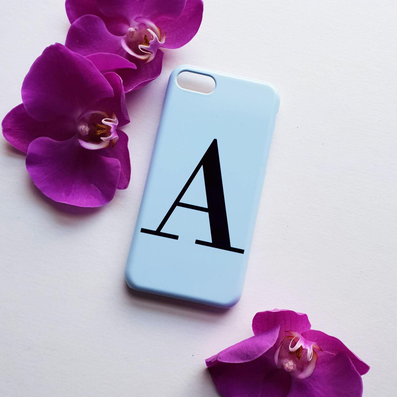 sports shoes 45c60 2645d Pastel blue alphabet phone case