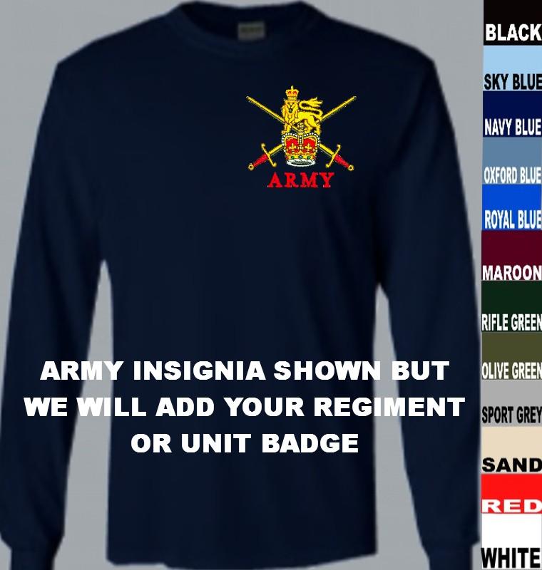 d847d3238 Australian Regiments Long Sleeve T Shirt