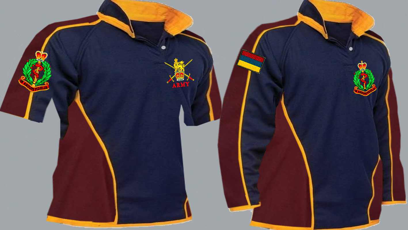 5e718236 RAMC Royal Army Medical Corps Regimental 3&4+ Colour Kooga Style Rugby Shirt  title=
