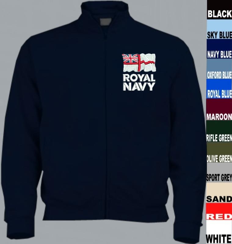 082074ad2 Royal Navy RN Full Zip Sweatshirt