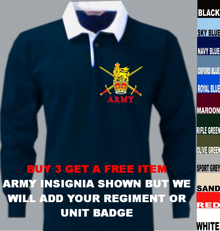 UK British Army Royal Air Force RAF Navy Marines Rugby Shirt