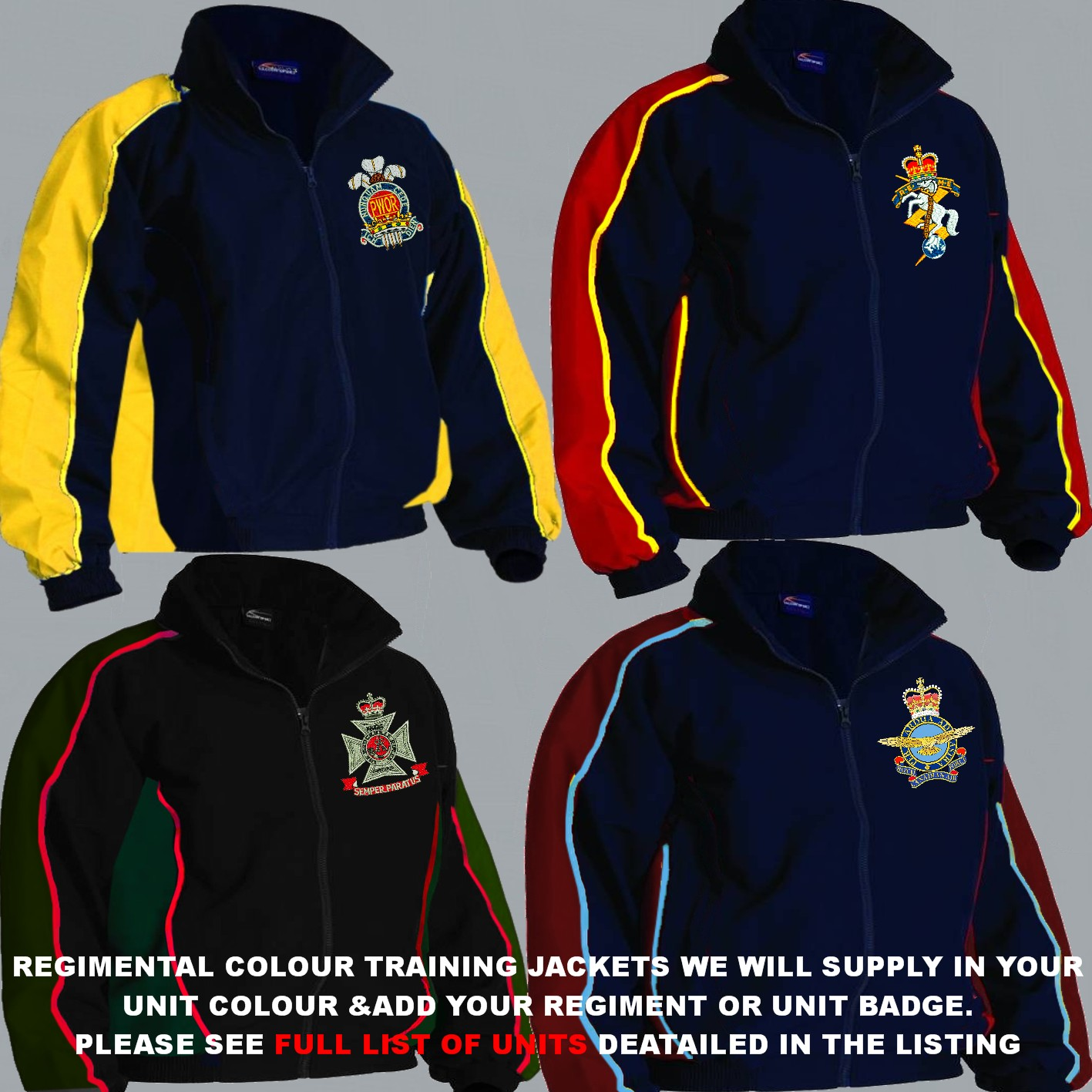 Canadian Army 1 A Regimental Colour Training Jackets