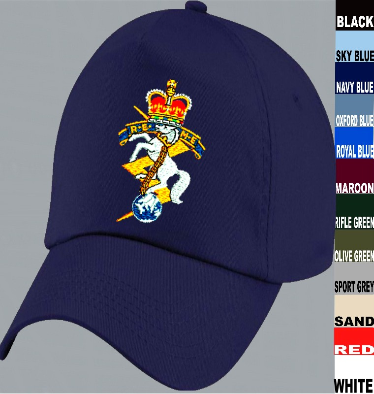 Royal Electrical   Mechanical Engineers REME Embroidered Baseball Cap title  c93f6b60fa6
