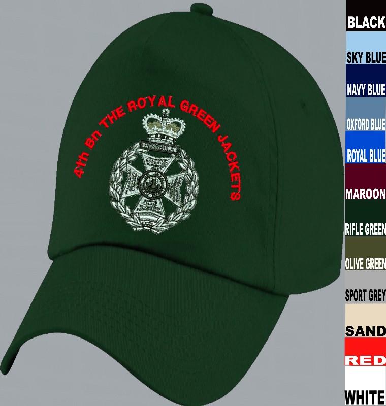 RGJ Royal Green Jackets Baseball Cap 53693de655d5