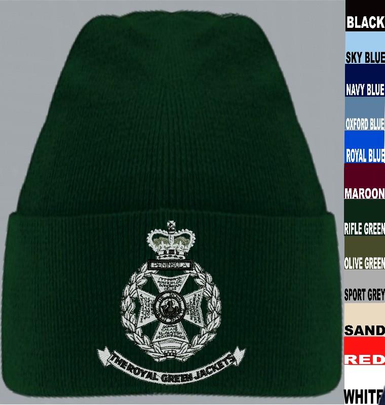 RGJ Royal Green Jackets Beanie Hat 0895452c4b49