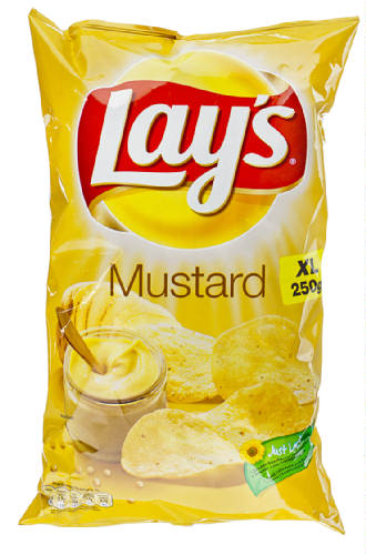 Lay's - Lays - LAY'S mosterd mustard - 250 gr netto.