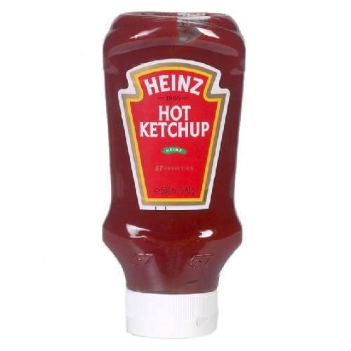 HEINZ Hot ketchup Top Down - 500 ml. Belgium Chocolates Brands