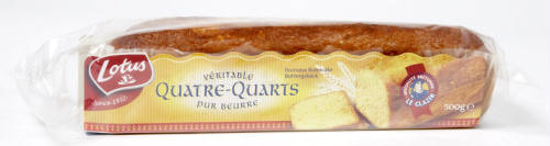 Lotus quatre quarts pur beurre pure butter cake 500 gr for Decoration quatre quart