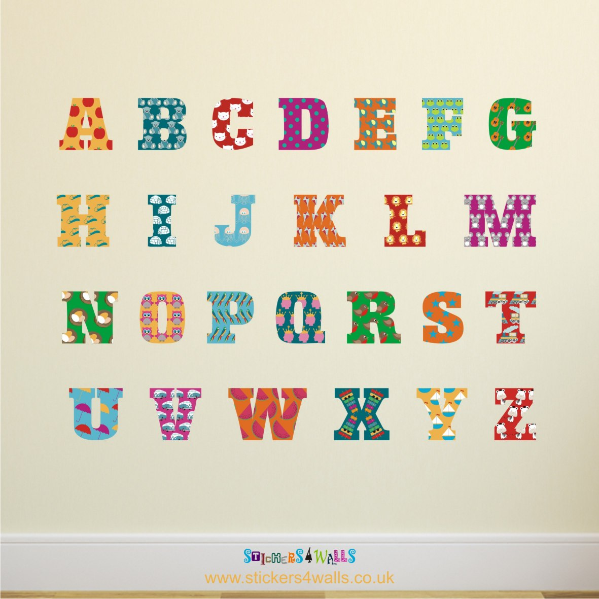 Alphabet Wall Sticker Decal Set