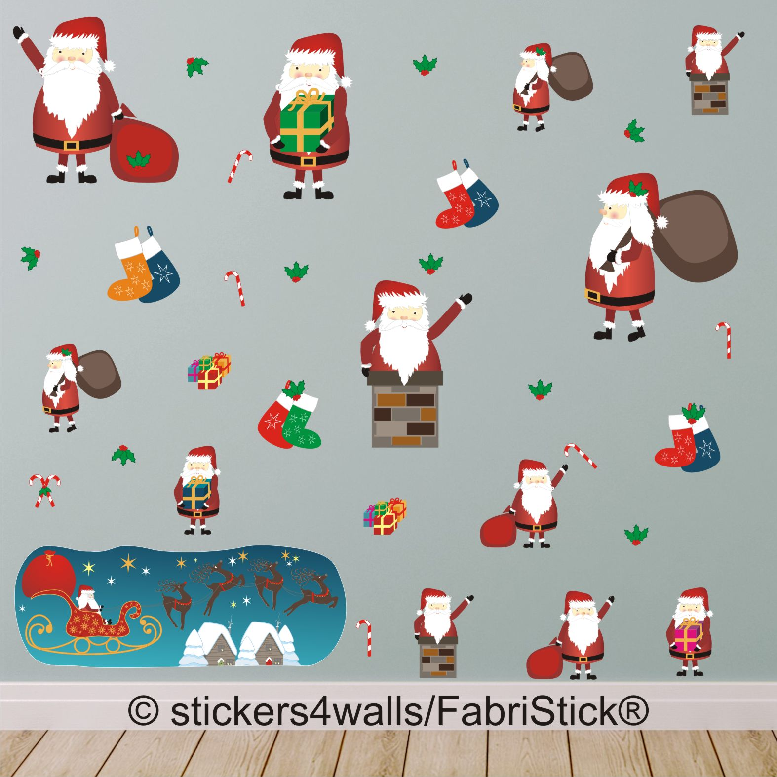 Father Christmas Wall Stickers