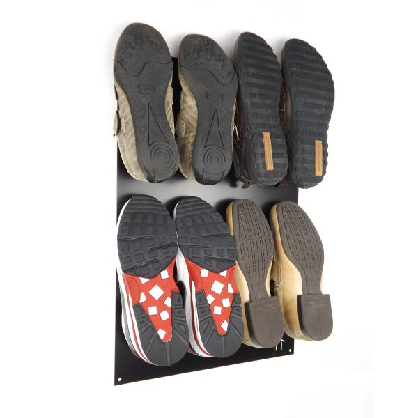 unique wall mounted metal shoe rack black