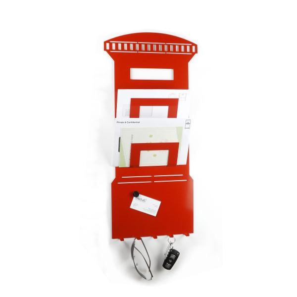 3 In 1 Post Box Magnetic Memo Board Letter Rack And Key