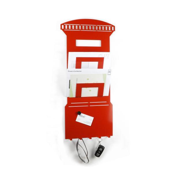 3 in 1 post box magnetic memo board letter rack and key - Letter rack and key holder ...
