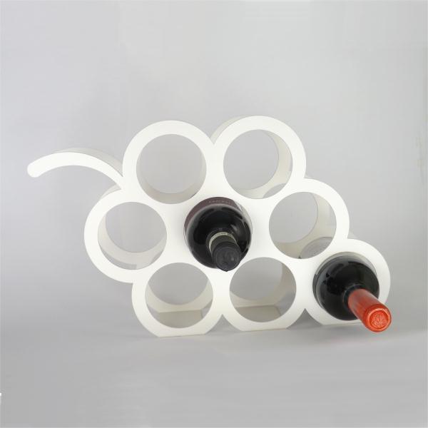 Grape Design Metal Wine Rack Ivory