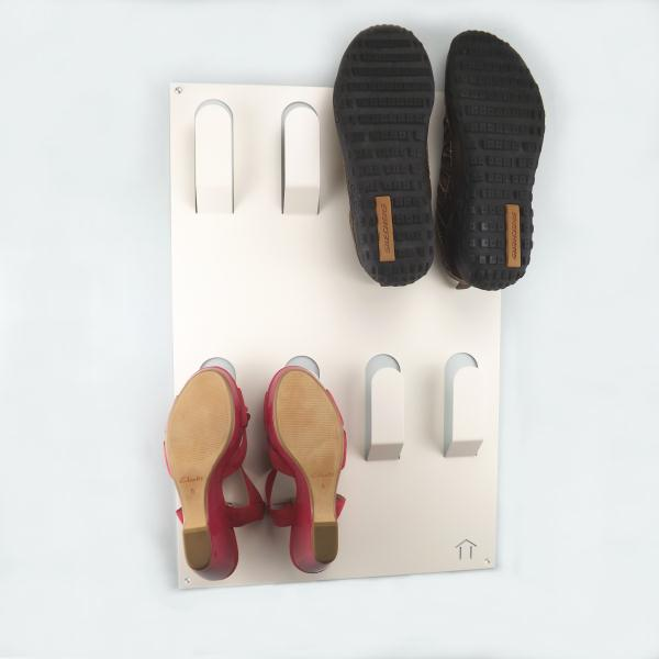 Unique Wall Mounted Metal Shoe Rack White